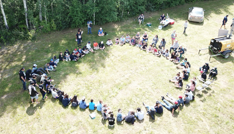 Climate change workshop during Gift Lake Culture Camp