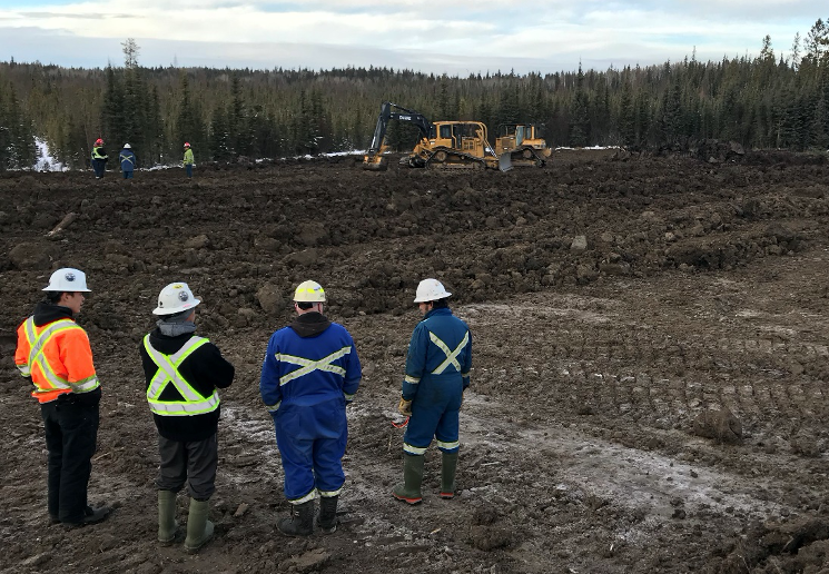 Mentorship during reclamation project on abandoned well-site